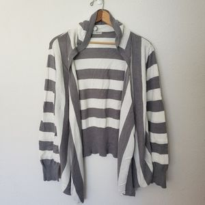 Maurices Striped Hooded Cardigan